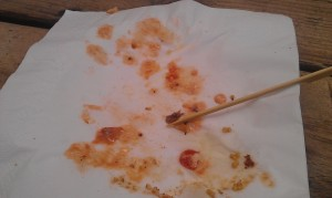 Burger... all gone